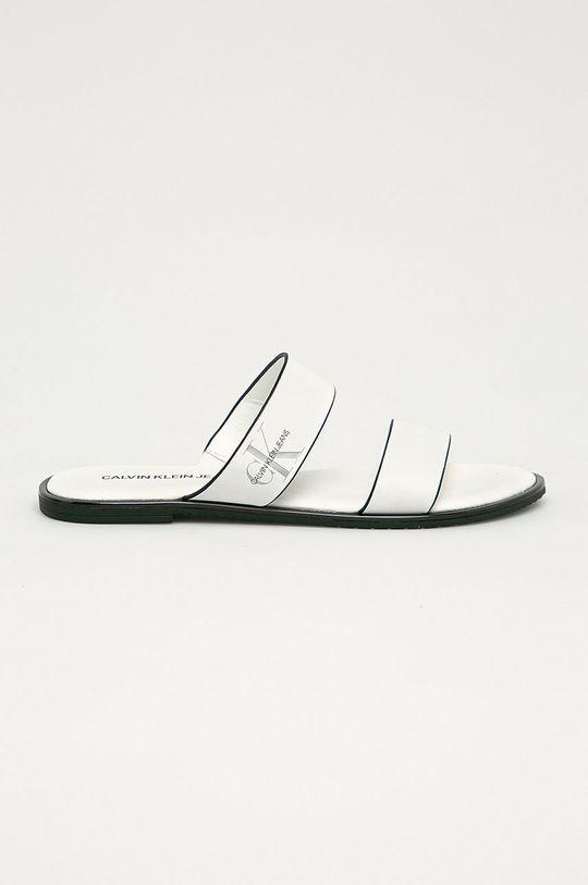 biały Calvin Klein Jeans - Klapki skórzane Damski