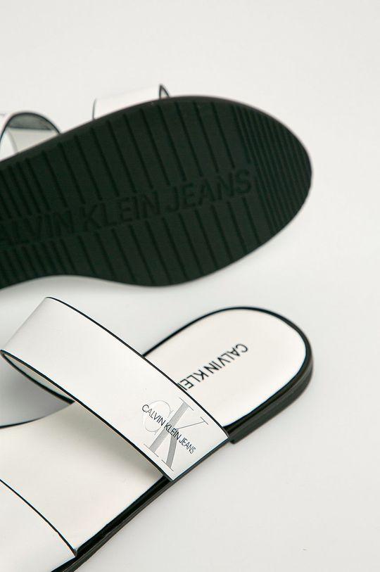 Calvin Klein Jeans - Klapki skórzane Cholewka: Skóra naturalna, Wnętrze: Materiał syntetyczny, Skóra naturalna, Podeszwa: Materiał syntetyczny