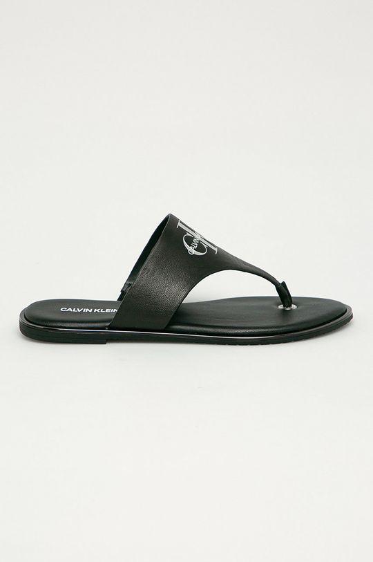 czarny Calvin Klein Jeans - Japonki skórzane Damski