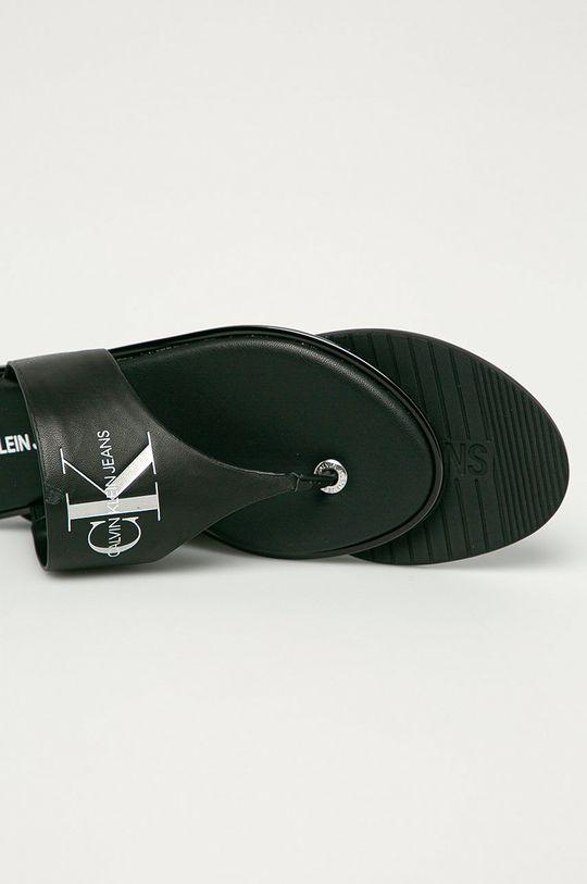 Calvin Klein Jeans - Japonki skórzane Cholewka: Skóra naturalna, Wnętrze: Materiał syntetyczny, Skóra naturalna, Podeszwa: Materiał syntetyczny