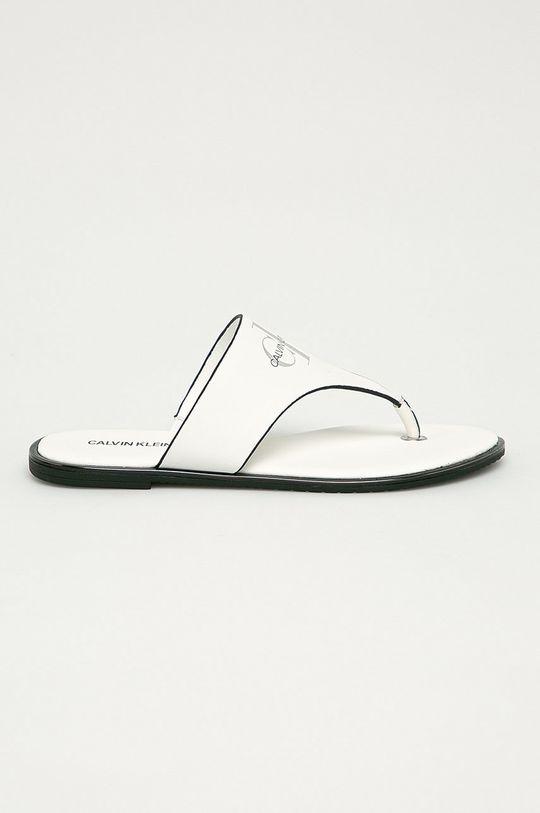 biela Calvin Klein Jeans - Kožené žabky Dámsky