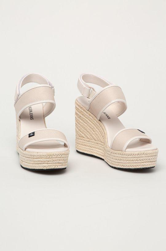 Calvin Klein Jeans - Sandály béžová
