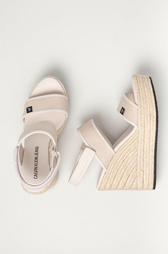 béžová Calvin Klein Jeans - Sandály