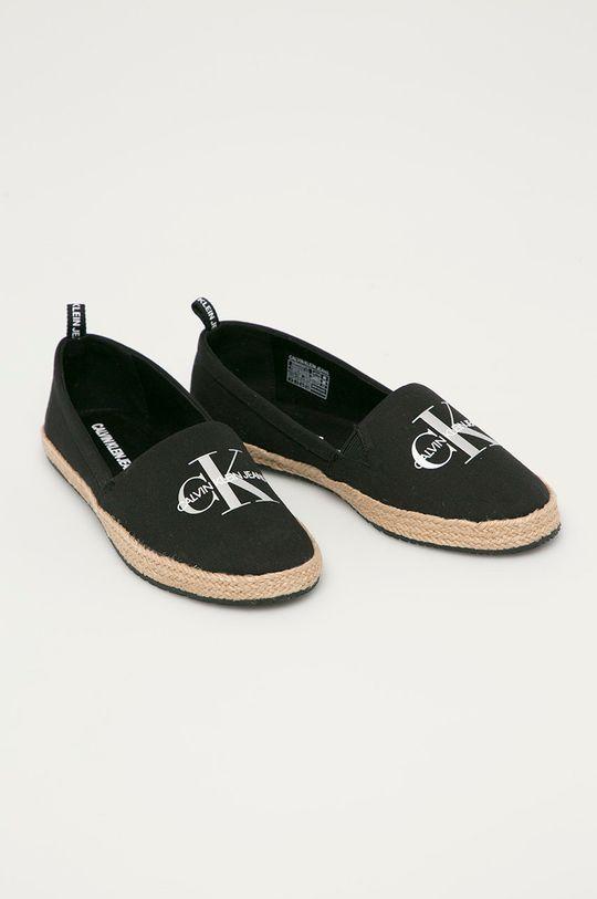 Calvin Klein Jeans - Espadrilky černá