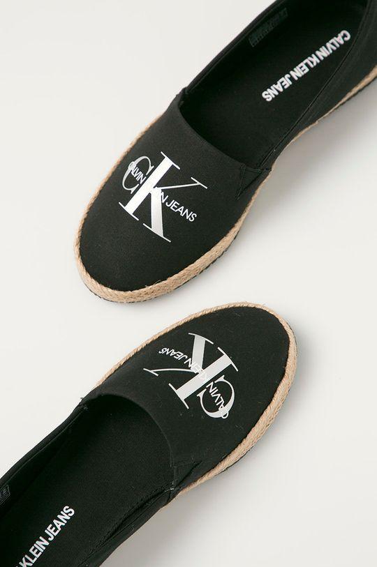 černá Calvin Klein Jeans - Espadrilky