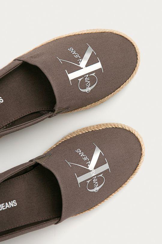 hnědá Calvin Klein Jeans - Espadrilky