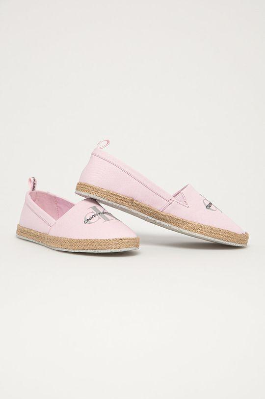 Calvin Klein Jeans - Espadryle różowy