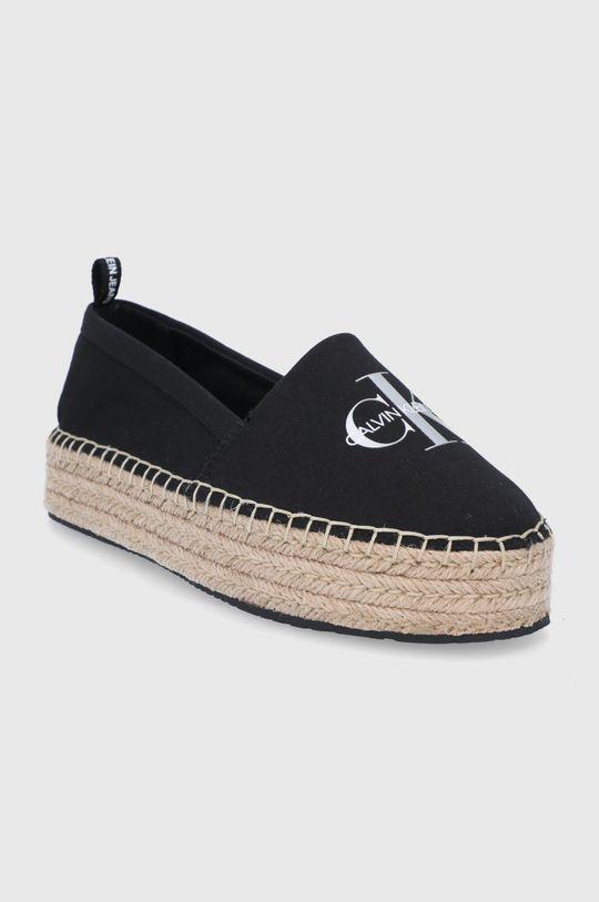 Calvin Klein Jeans - Espadrilky čierna