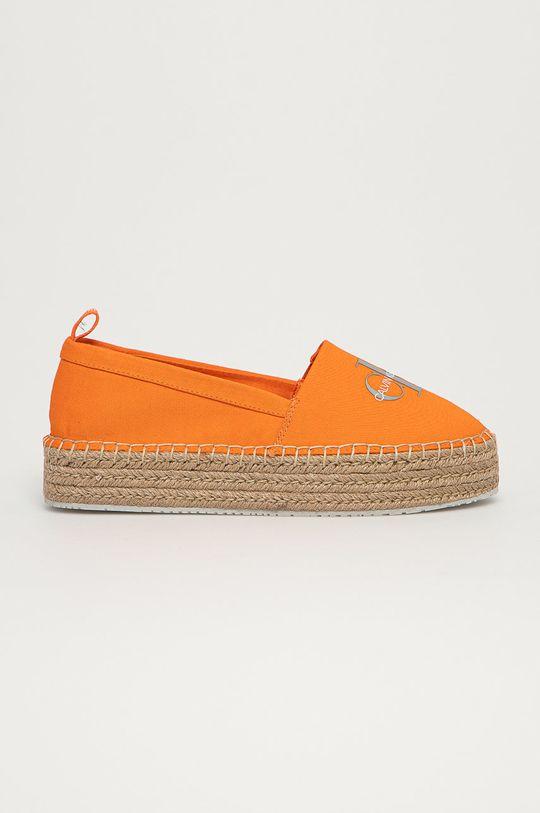 oranžová Calvin Klein Jeans - Espadrilky Dámský