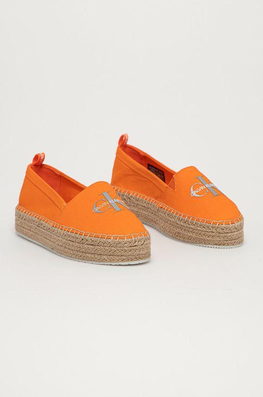 Calvin Klein Jeans - Espadrilky oranžová
