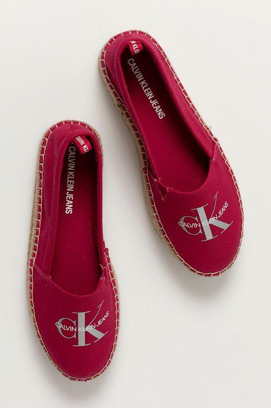 różowy Calvin Klein Jeans - Espadryle