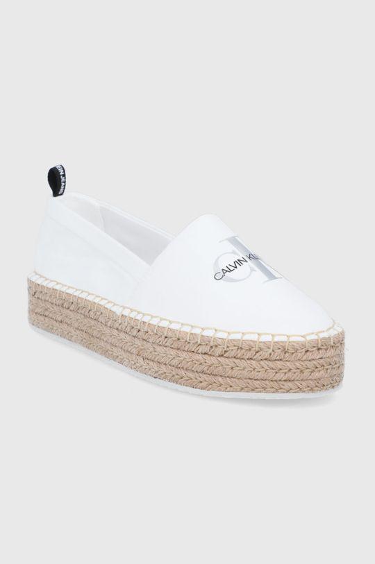 Calvin Klein Jeans - Espadrilky bílá