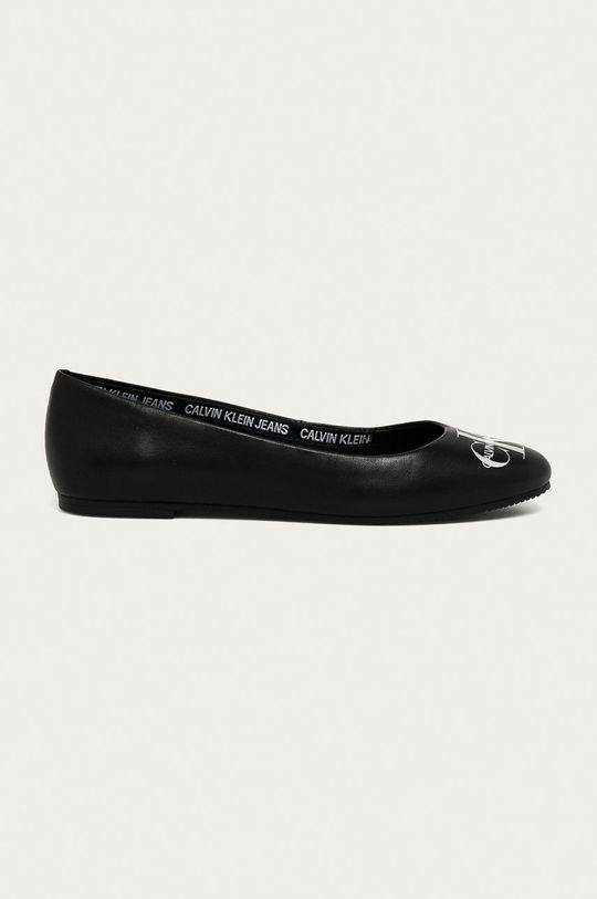 černá Calvin Klein Jeans - Kožené baleríny Dámský