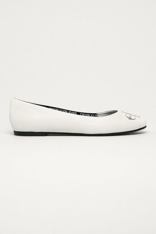 alb Calvin Klein Jeans - Balerini de piele De femei