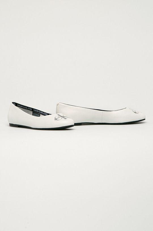 Calvin Klein Jeans - Balerini de piele alb