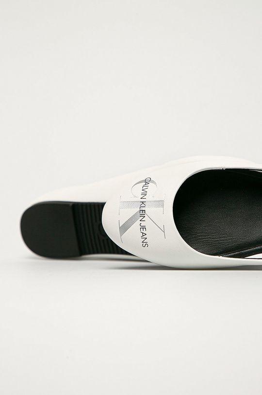 alb Calvin Klein Jeans - Balerini de piele