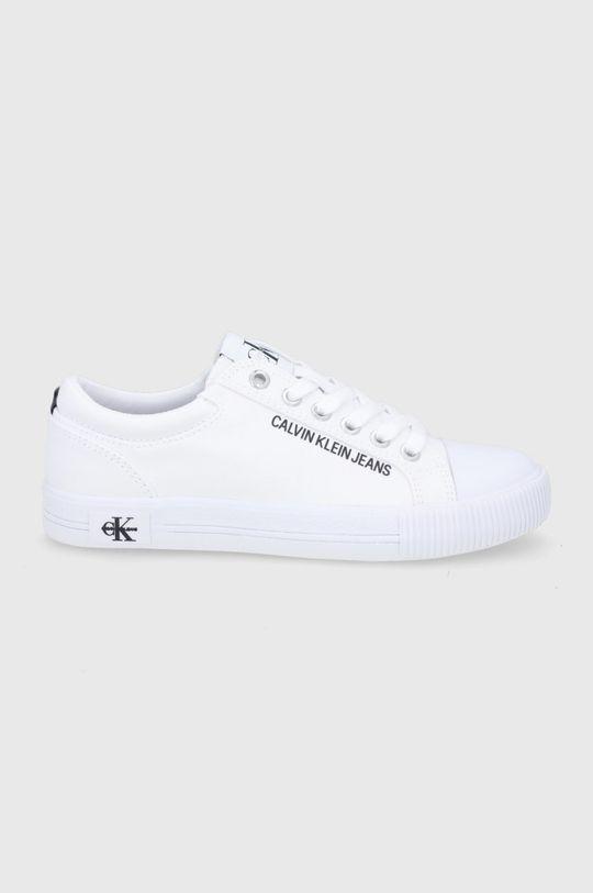 biały Calvin Klein Jeans - Tenisówki Damski