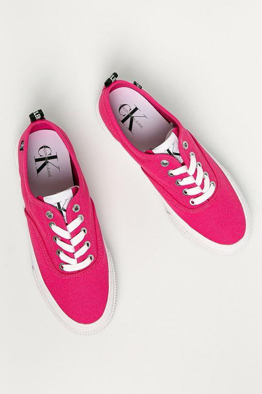różowy Calvin Klein Jeans - Tenisówki