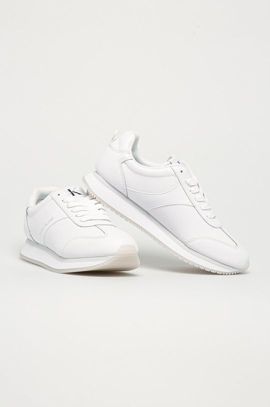 Calvin Klein Jeans - Ghete de piele alb
