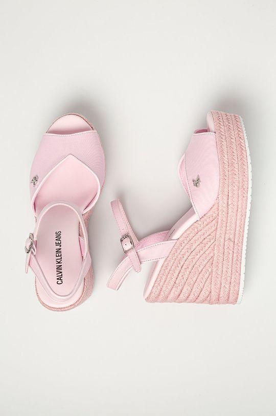 Calvin Klein Jeans - Sandały Cholewka: Materiał tekstylny, Wnętrze: Materiał syntetyczny, Materiał tekstylny, Podeszwa: Materiał syntetyczny