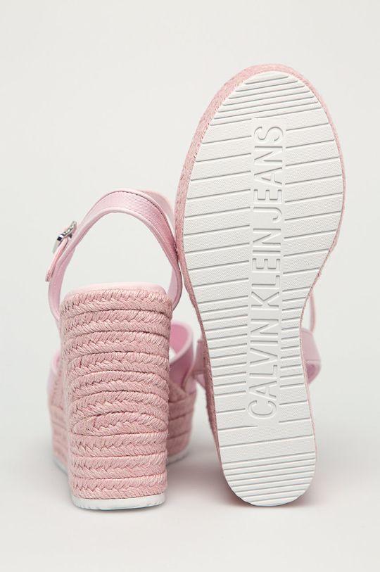 różowy Calvin Klein Jeans - Sandały