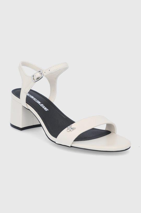 Calvin Klein Jeans - Kožené sandály smetanová