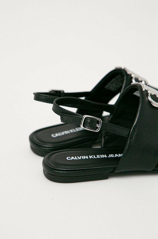 Calvin Klein Jeans - Kožené sandále  Zvršok: Prírodná koža Vnútro: Syntetická látka, Prírodná koža Podrážka: Syntetická látka