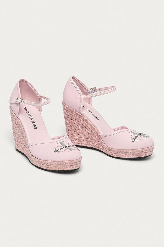 Calvin Klein Jeans - Espadrile roz