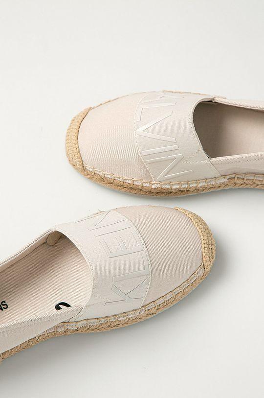 bej Calvin Klein Jeans - Espadrile
