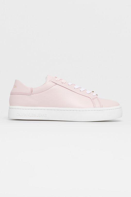 růžová Calvin Klein Jeans - Kožené boty Dámský