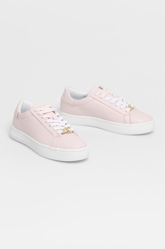 Calvin Klein Jeans - Kožené boty růžová