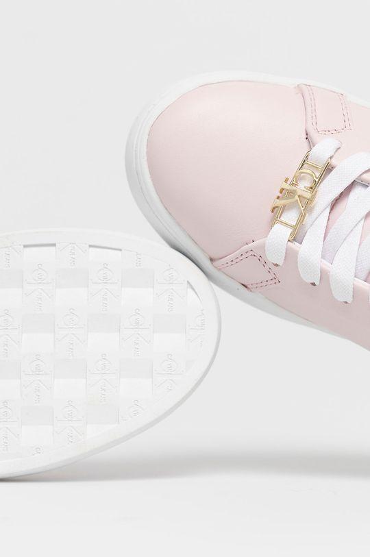 růžová Calvin Klein Jeans - Kožené boty