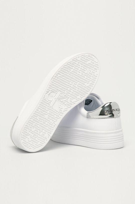 bílá Calvin Klein Jeans - Kožené boty