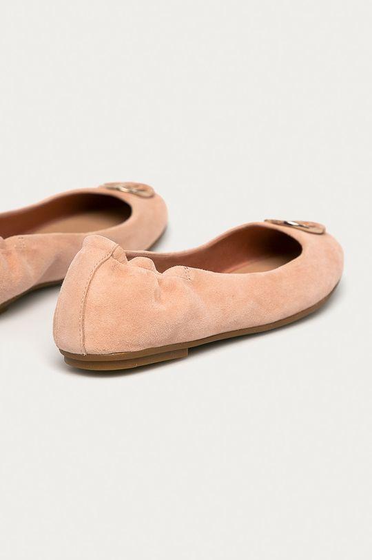Tommy Hilfiger - Semišové baleríny  Svršek: Semišová kůže Vnitřek: Textilní materiál, Přírodní kůže Podrážka: Umělá hmota