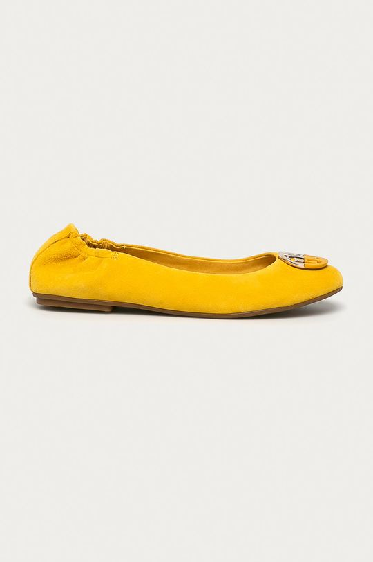 žltá Tommy Hilfiger - Semišové baleríny Dámsky