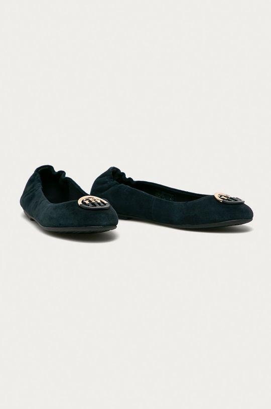 Tommy Hilfiger - Semišové baleríny námořnická modř