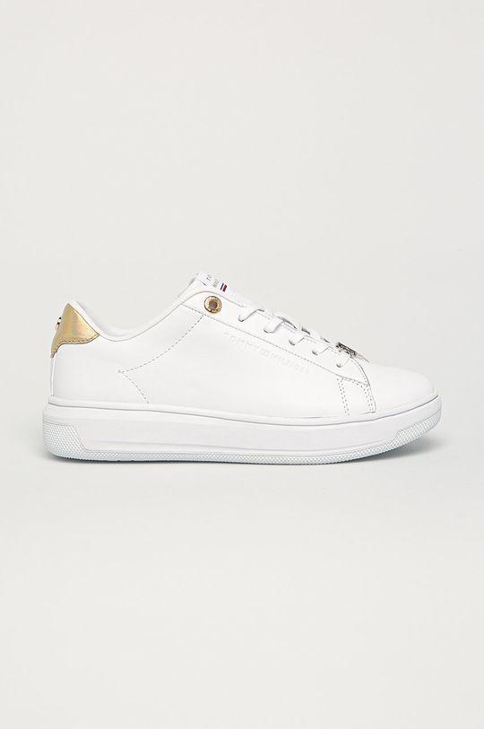 biela Tommy Hilfiger - Kožená obuv Dámsky