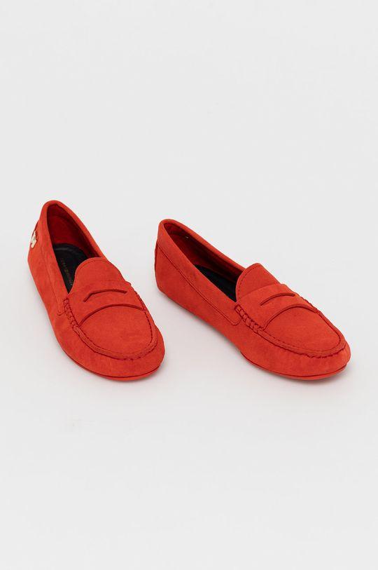 Tommy Hilfiger - Kožené mokasíny červená