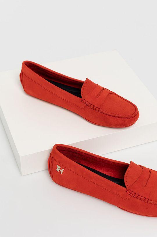 červená Tommy Hilfiger - Kožené mokasíny