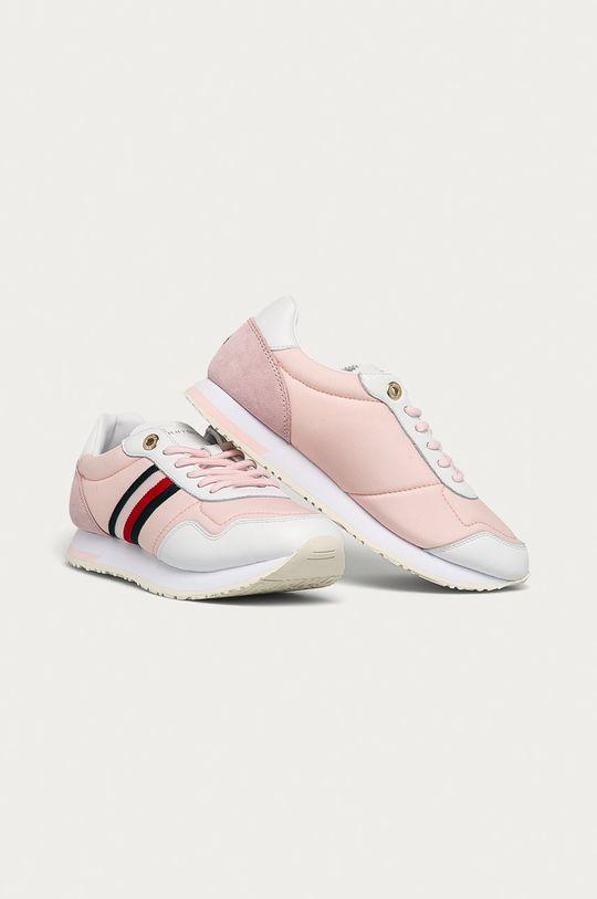 Tommy Hilfiger - Boty pastelově růžová