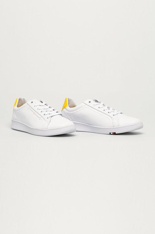 Tommy Hilfiger - Kožené boty žlutá