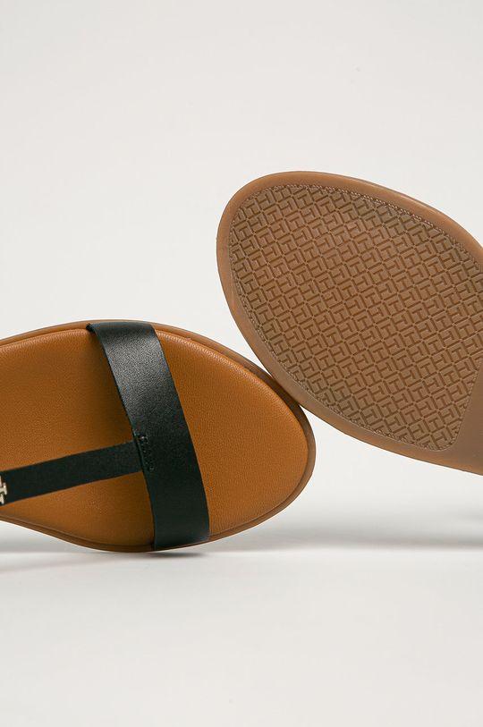 černá Tommy Hilfiger - Kožené sandály