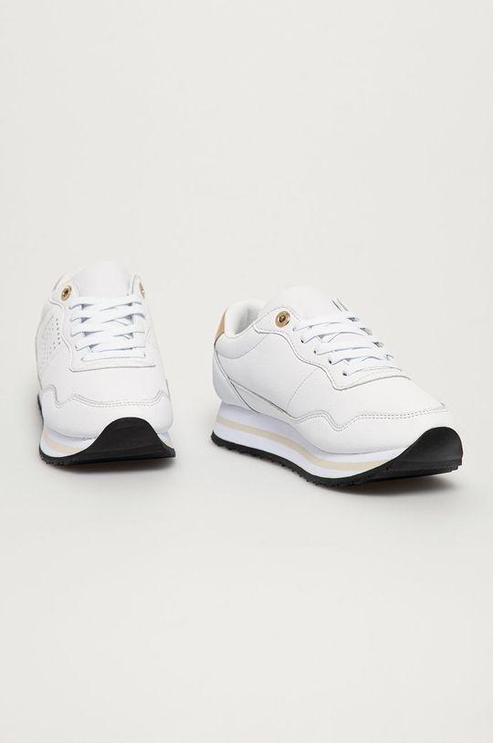 Tommy Hilfiger - Kožená obuv biela