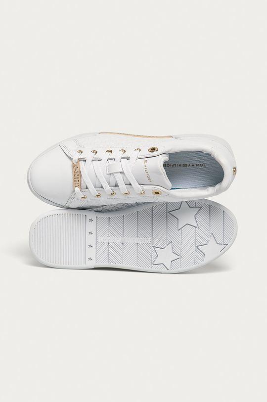 biela Tommy Hilfiger - Kožená obuv