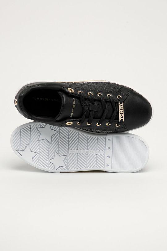 čierna Tommy Hilfiger - Kožená obuv