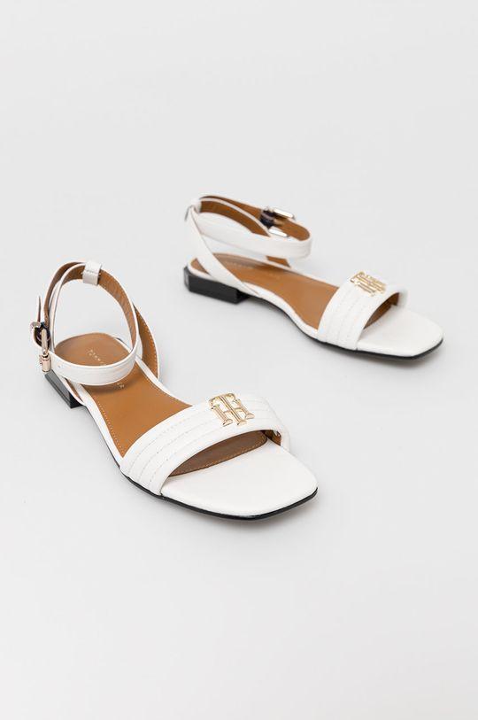 Tommy Hilfiger - Sandały skórzane biały