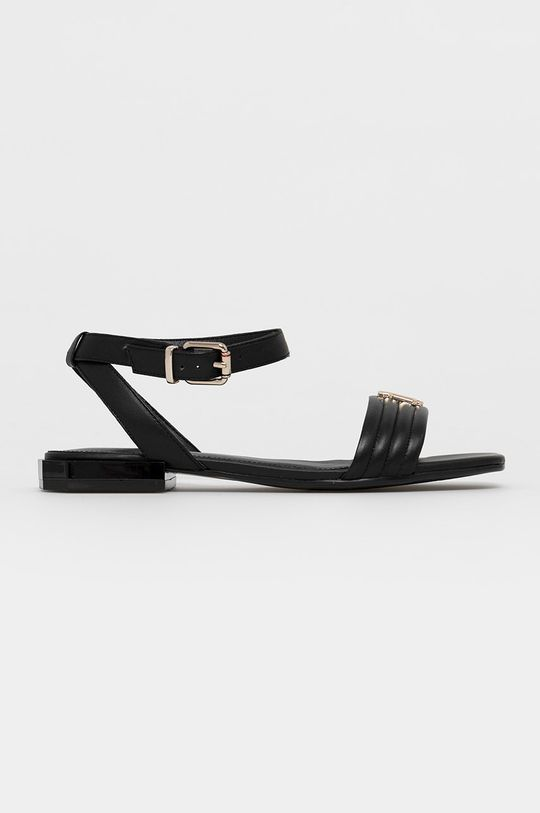 čierna Tommy Hilfiger - Kožené sandále Dámsky