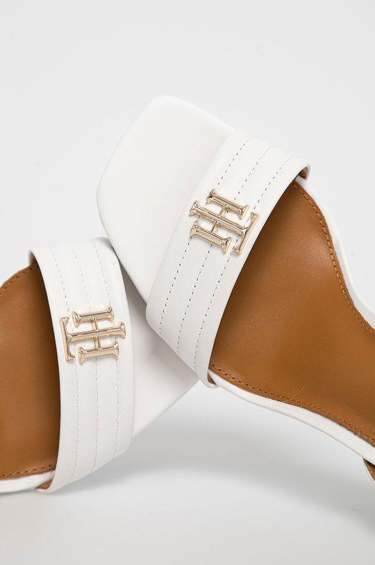 biały Tommy Hilfiger - Sandały skórzane