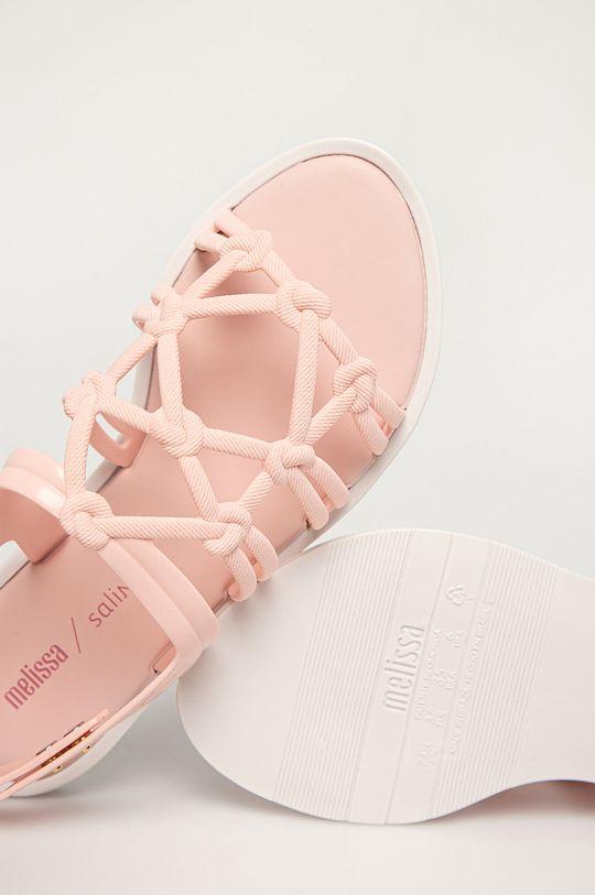 pastelově růžová Melissa - Sandály Boemia + Salinas