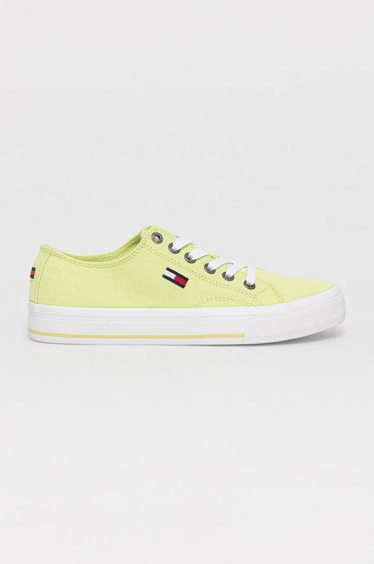 zielony Tommy Jeans - Tenisówki Damski
